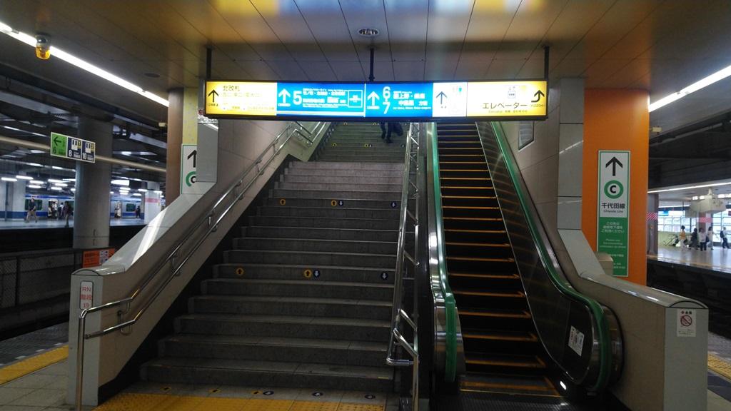 千代田線から日比谷線北7