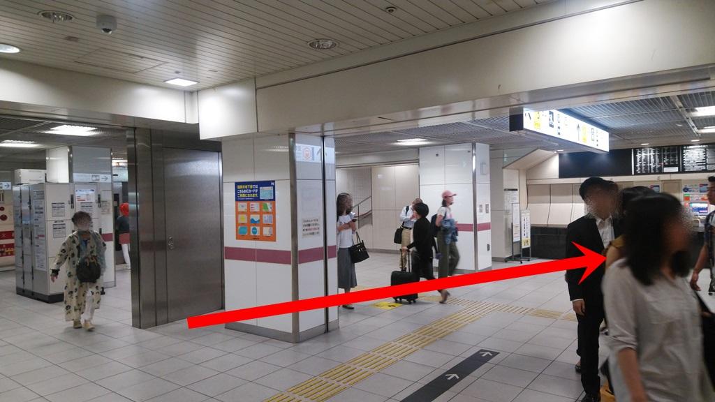 在来線から地下鉄2