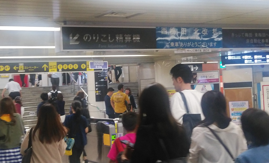 西梅田から阪神1