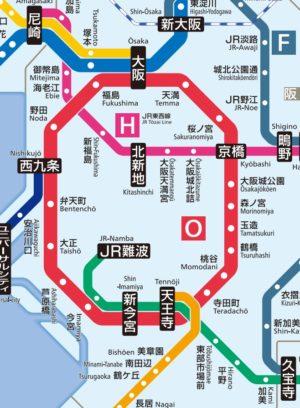 JR難波駅周辺路線図