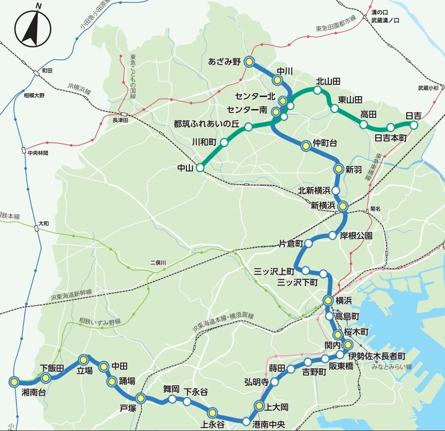 市営地下鉄路線図