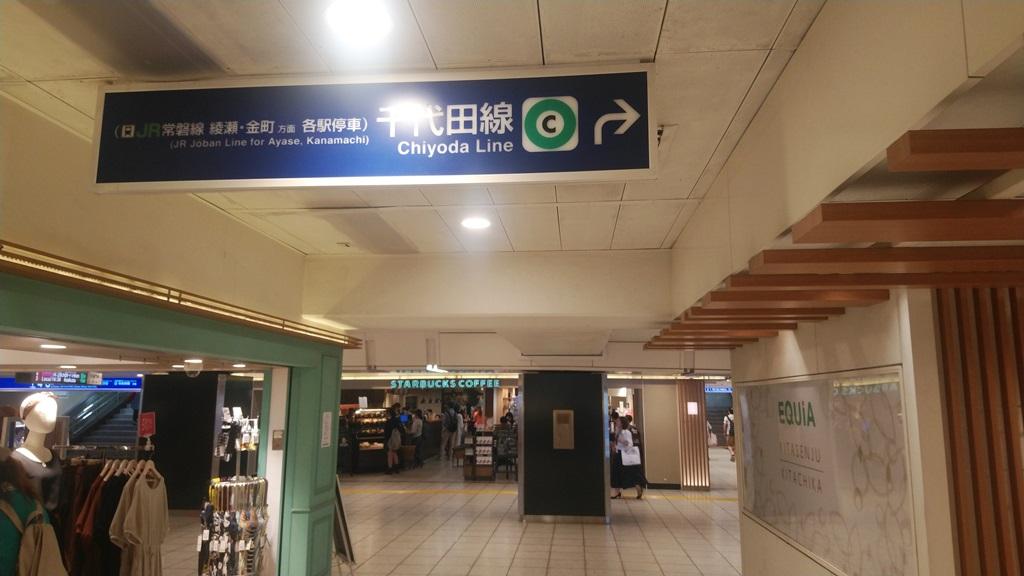 日比谷線から千代田線北7