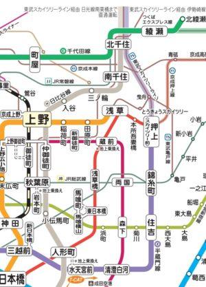 半蔵門線路線図