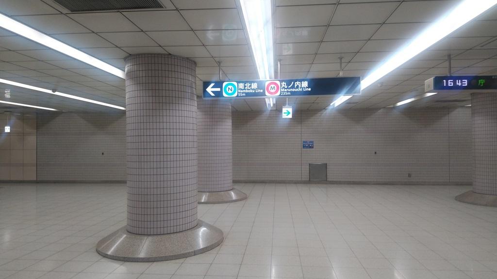大江戸線から南北線3