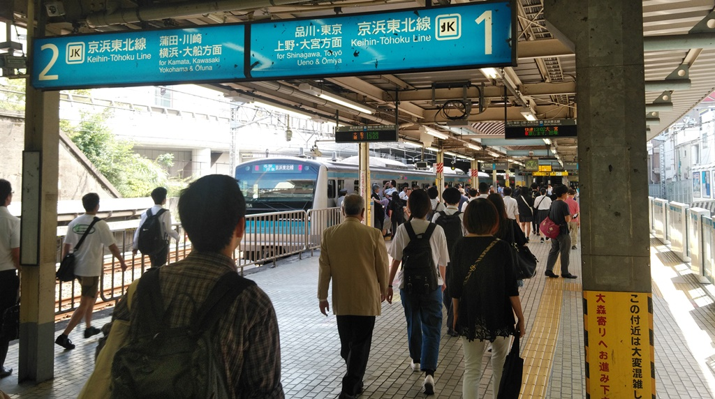 大井町線から京浜東北線4