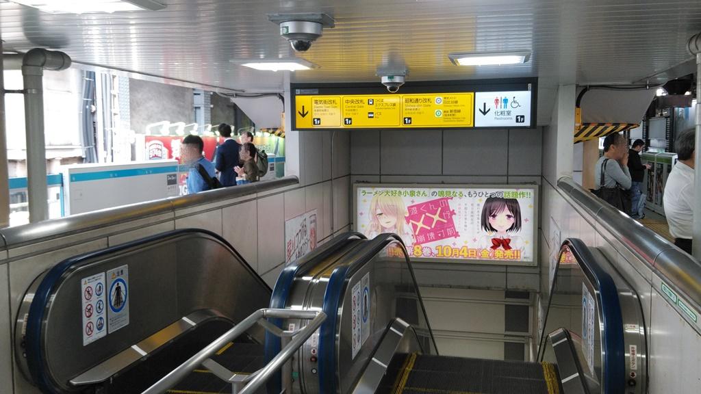 山手線線から昭和通り改札1