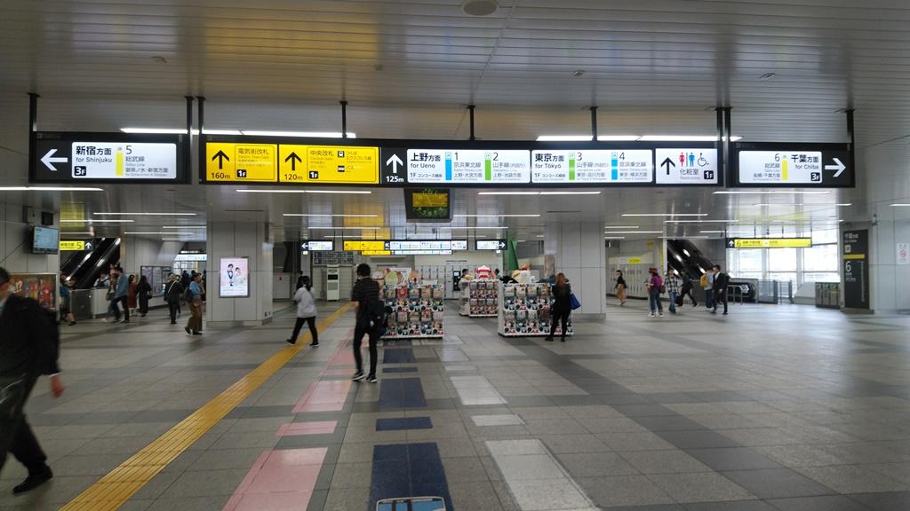 昭和通り改札から山手線1