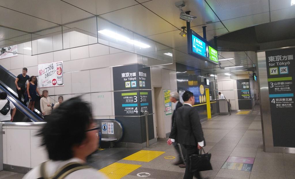 昭和通り改札から山手線4