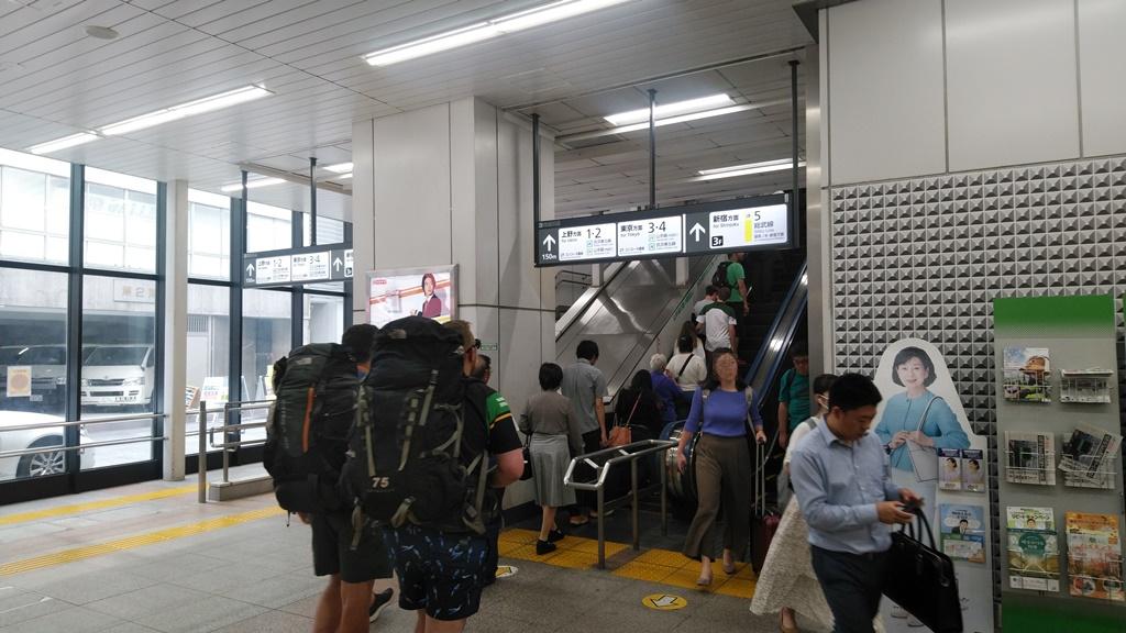 昭和通り改札から総武線1