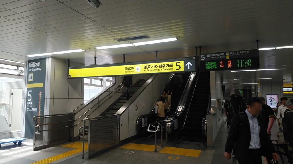 昭和通り改札から総武線3