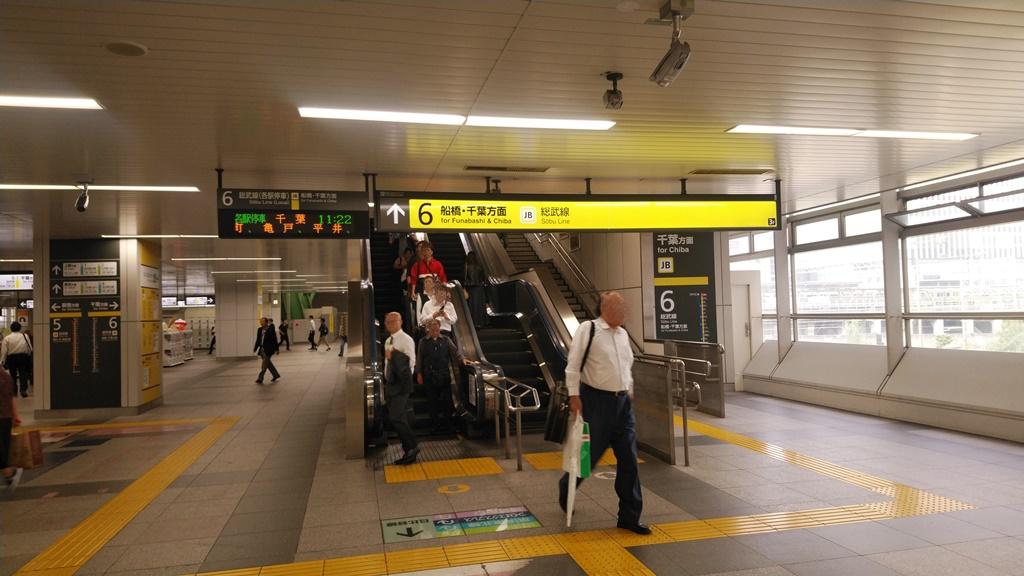 昭和通り改札から総武線4