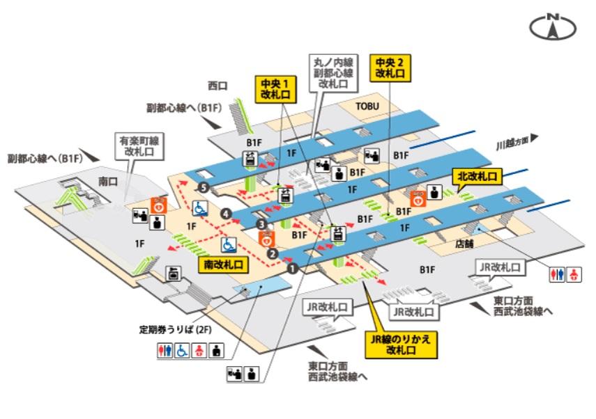 東武構内図