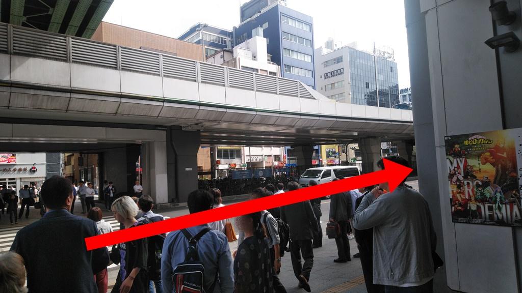 JRから岩本町駅2