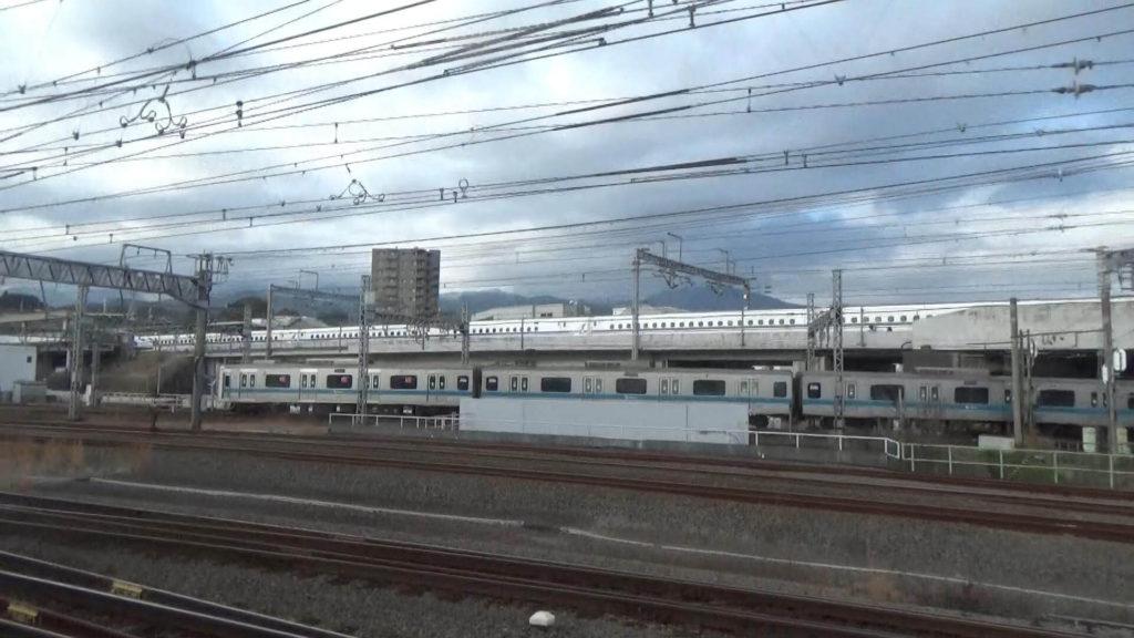 新幹線と小田急