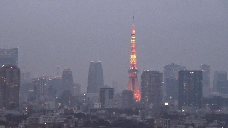 東京タワー少し夜景