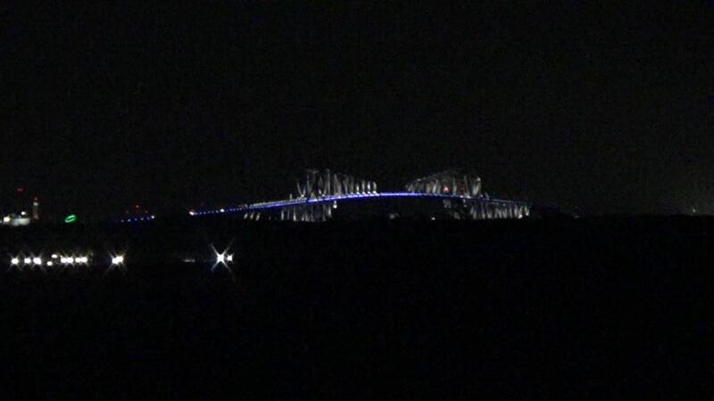 夜の東京ゲートブリッジ