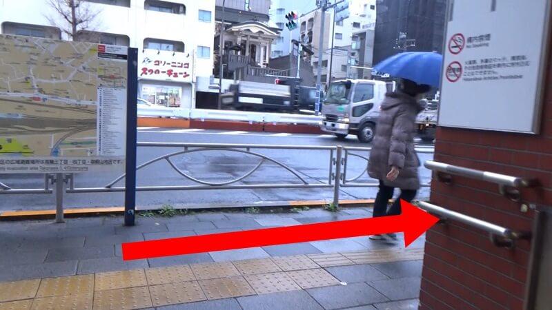 泉岳寺から高輪ゲートウェイ3