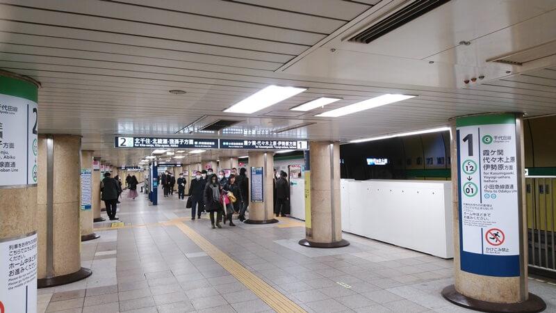 都営新宿線から千代田線3