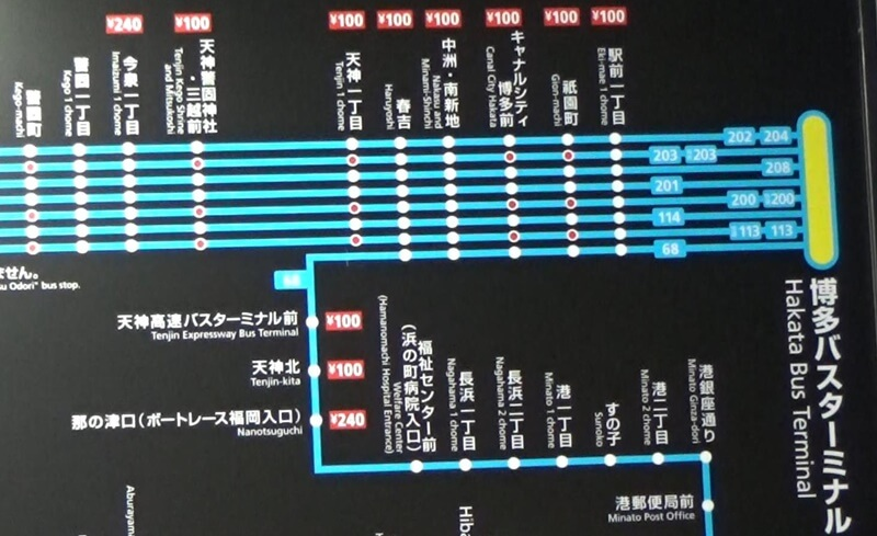 4番のりば路線図