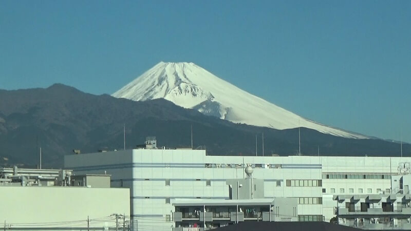 三島付近富士山