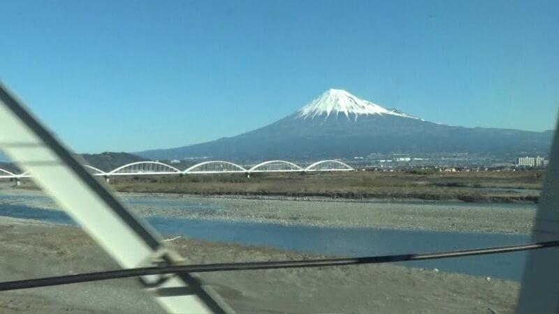 富士川付近富士山
