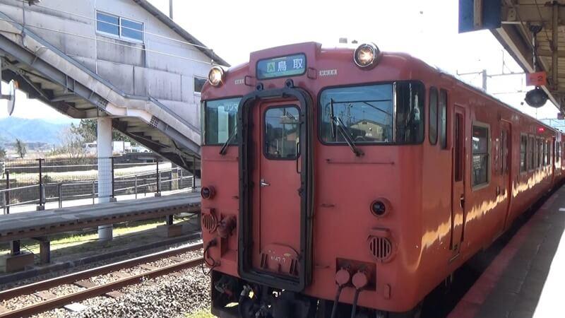 鳥取行き列車