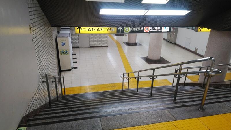千代田線から都営新宿線6
