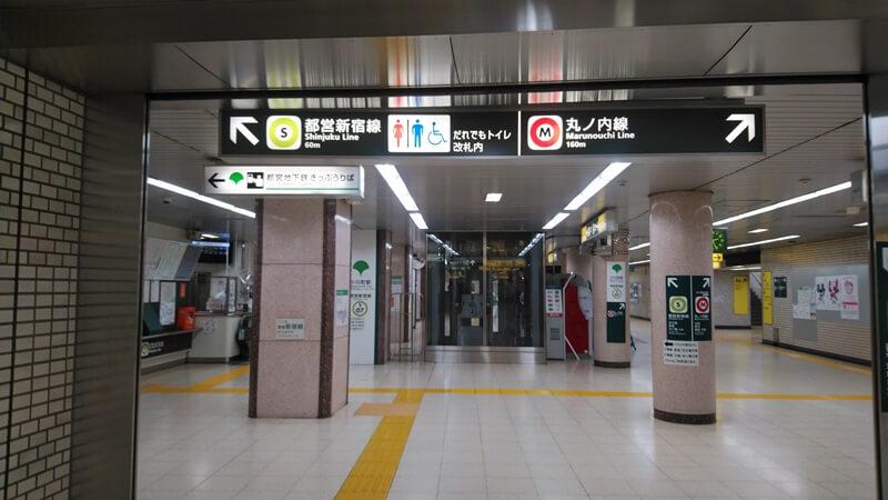 千代田線から都営新宿線7