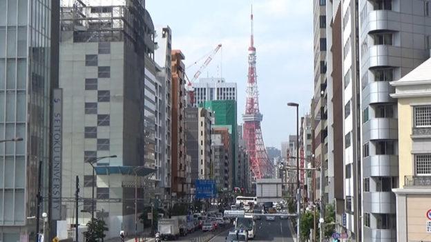 札の辻から東京タワー