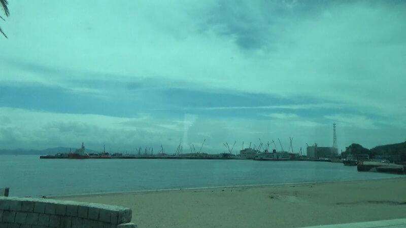 バスから東京湾