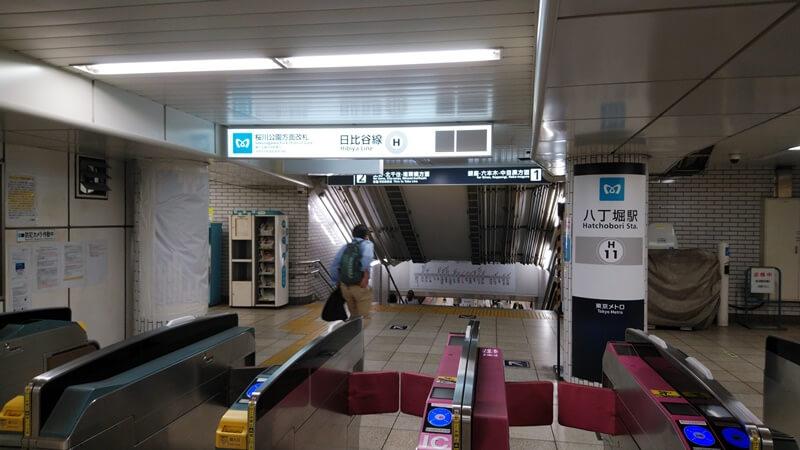 京葉線から日比谷線6